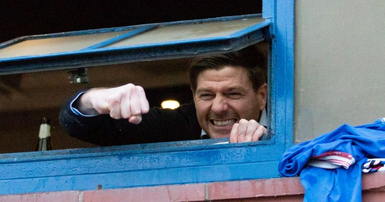 Rangers banner flown over Celtic match as Gerrard's side close in on title