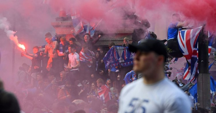 Rangers fan 'missing half a hand' after firework he was holding blew up