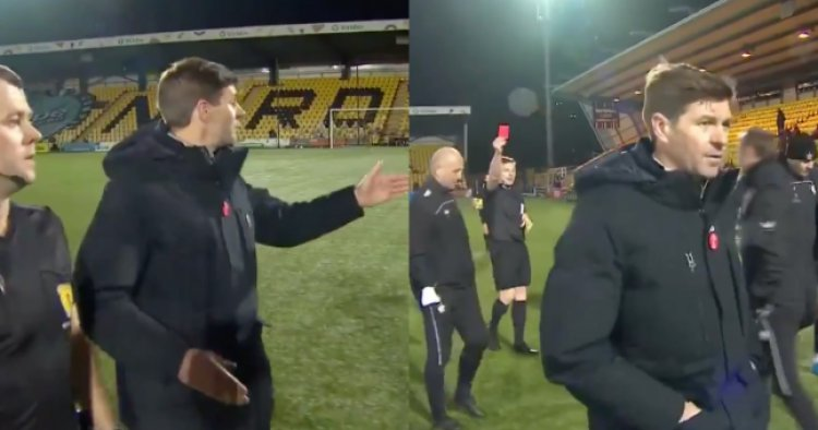 Steven Gerrard could miss Rangers' title winning game after red card   JOE.co.uk