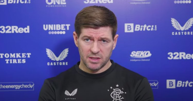 Every word of Steven Gerrard's Rangers press conference ahead of St Mirren clash
