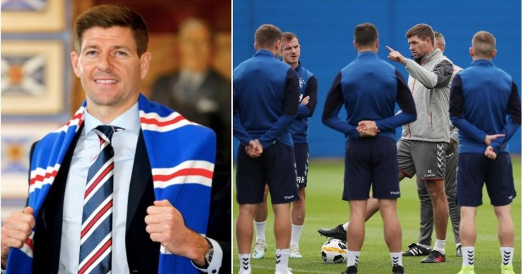 Gerrard revealed his first ever words to Rangers players after he leads them to SPFL title
