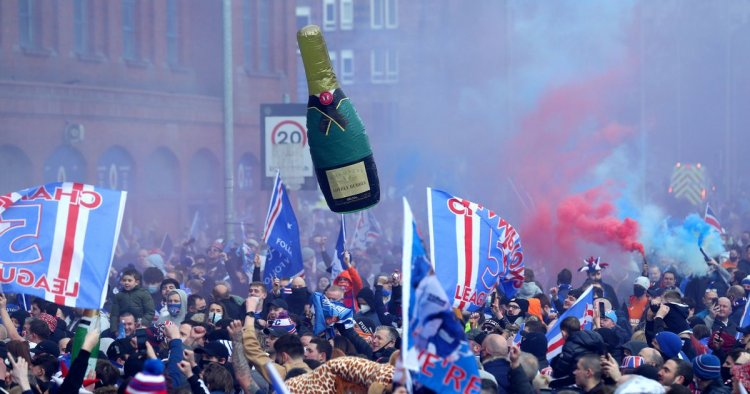 Rangers fans breach Covid rules to party at Ibrox again after league title win