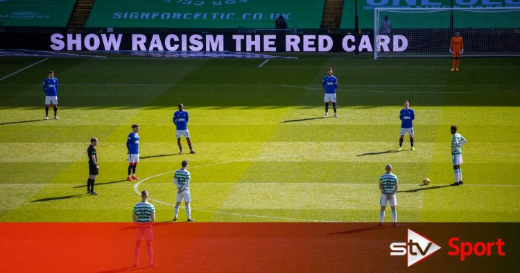 Celtic and Rangers make stand against racism before derby kick off